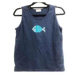 Cantoo Tank top with nail heads in shape of fish
